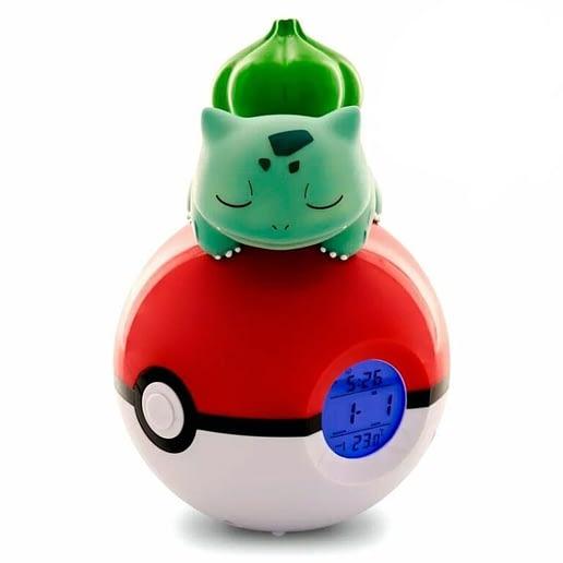 Pokemon Bulbasaur Pokeball Lampa och Alarm Klocka