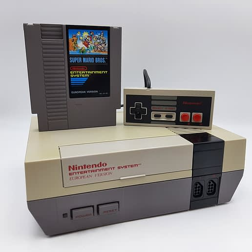 Nintendo 8-bit Basenhet med Super Mario Bros