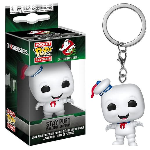Pocket POP Ghostbusters Stay Puft Nyckelring