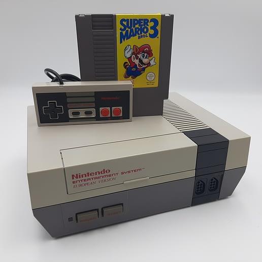 Nintendo 8-bit Basenhet med Super Mario Bros 3