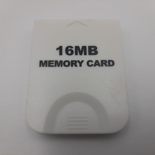 Minneskort Vit 16MB till Nintendo Gamecube