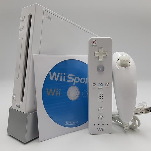 Wii Basenhet RVL-001 Vit med Wii Sports