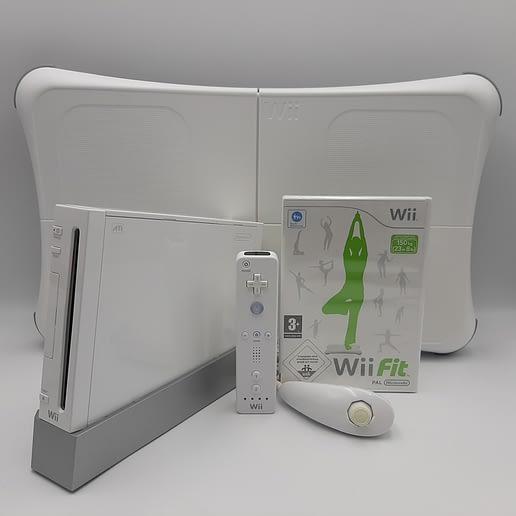 Wii Basenhet RVL-001 Vit med Wii Fit och Balance Board