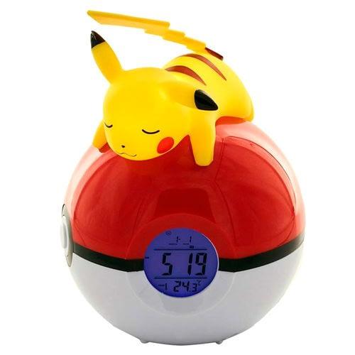 Pokemon Pikachu Pokeball Lampa och Alarm Klocka