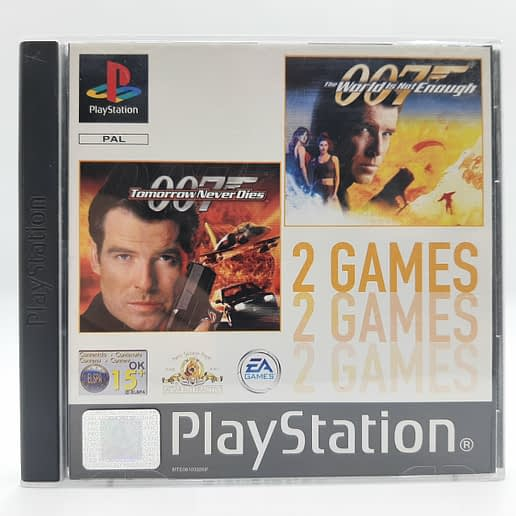007 The World is not Enough & 007 Tomorrow Never Dies till Playstation 1 PS1