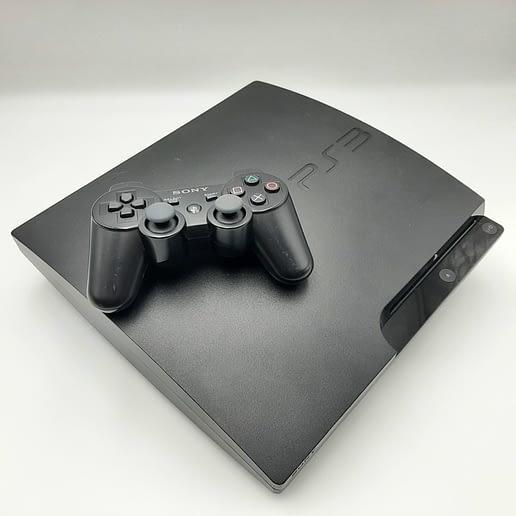 PS3 Slim 120GB Basenhet med tre spel